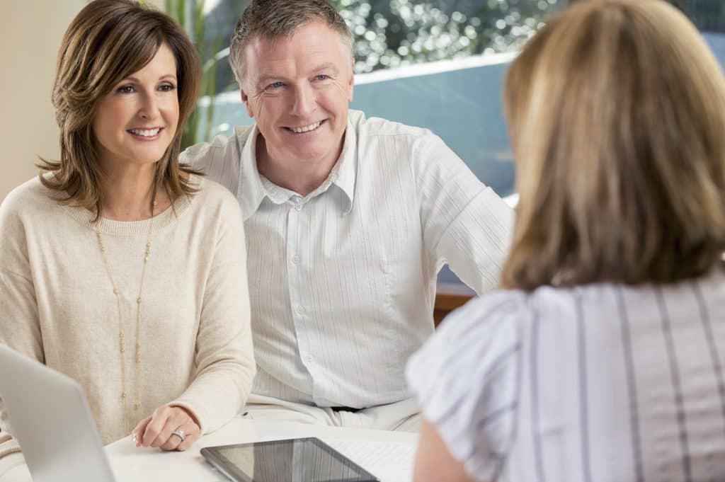 Couple meeting with advisor